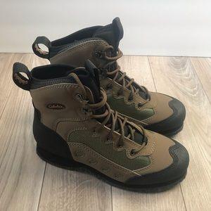 NEW Cabelas brown Wading Boots felt bottoms 7 D